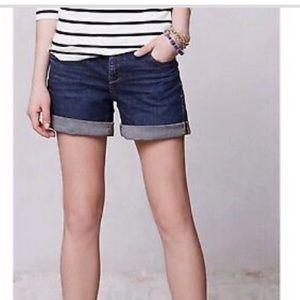 Anthropology Pilcro Stet Denim Shorts Size 28